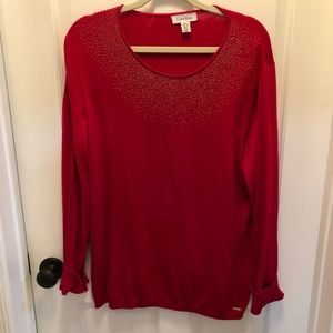 Calvin Klein Red sweater XL